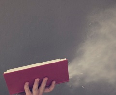 Blowing dust off a book