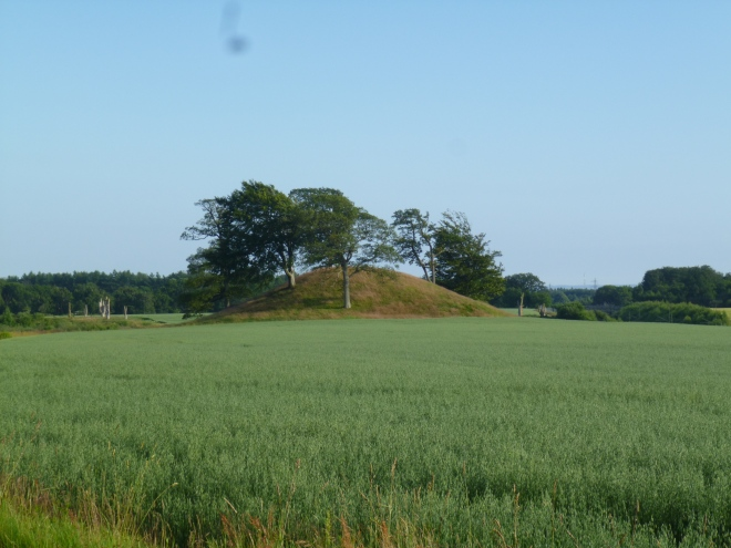 A little out of town, this is a bronze age burial mound. More information to follow on the next picture.