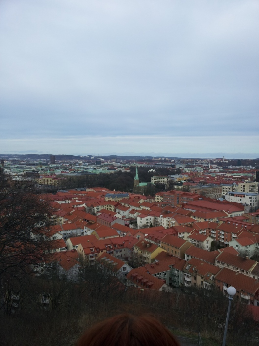 This is the view from the top of Skansen Kronan, overlooking the city. We had to climb a rickety old staircase up the building but the view was worth it.