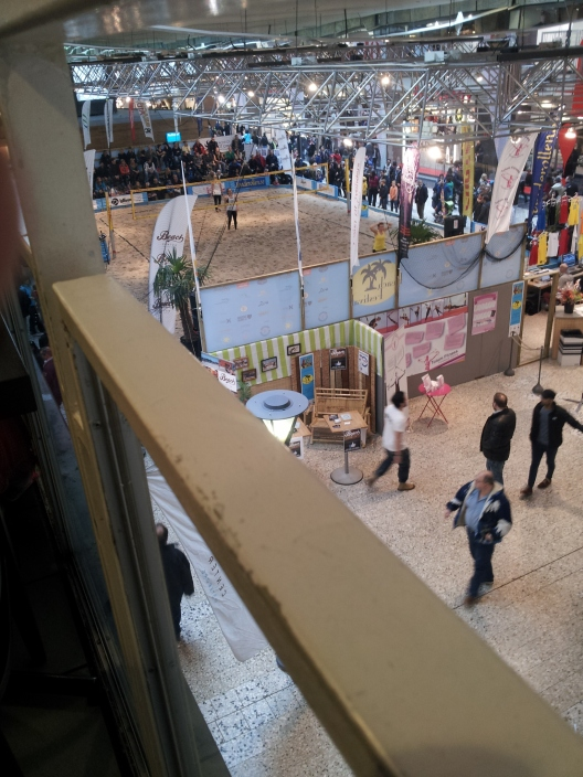 Last but not least, while briefly inside a shopping centre we discovered a volleyball game being conducted, sand and everything. Different, but it certainly drew a crowd.