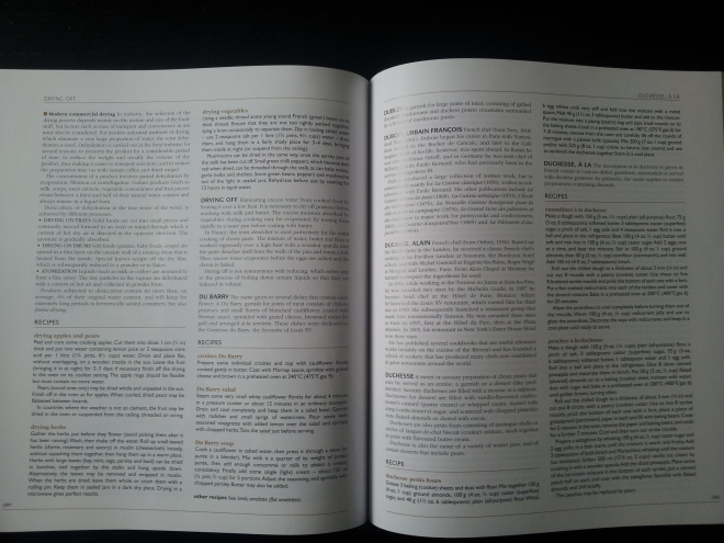 Most of the pages look like this, however - just a lot of writing. Don't let the lack of pictures fool you though, because this book isn't about looking pretty. On these 2 pages, amongst the chef bios and cuisine and method explanations, are 9 full recipes. As I said, this book is back to basics, but I personally like it.
