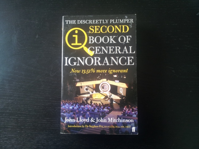 If you haven't seen the brilliant television show QI, get off my blog and go and look up QI on Youtube right now (I'll talk to you in a few days upon your return). For those more familiar with it, this book basically deals with the same sorts of information the show does, and even includes snippets from the show. A good way to find out a lot of what you know is wrong, and very funny too.