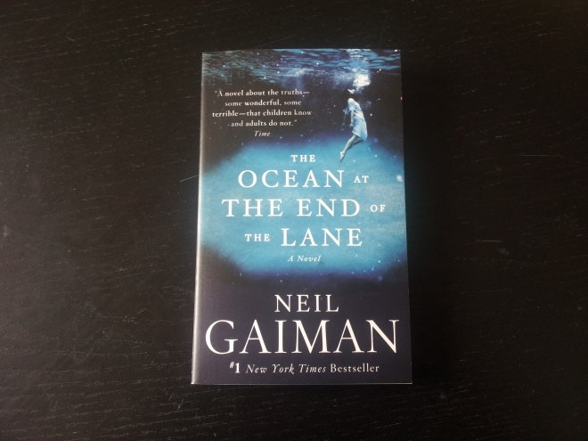 The Ocean At The End Of The Lane by Neil Gaiman. I bought almost all of Gaiman's novels last year, then never got around to reading them and had to leave them boxed up in Australia for the time being. This, his latest novel, will help make up for that a little I hope.