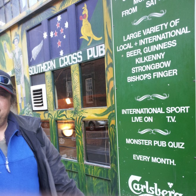 As we left for the train out of Copenhagen we walked past this Australian pub, the Southern Cross Pub. In true Aussie fashion two drunkards came out offering us drinks and telling us they loved us.