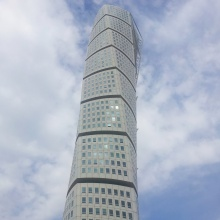 The Turning Torso has become an iconic building in Malmö. Unfortunately, it's residential and you can't go inside. It overlooks the sea between Sweden and Denmark, and the structure is based on, well, a turning torso.