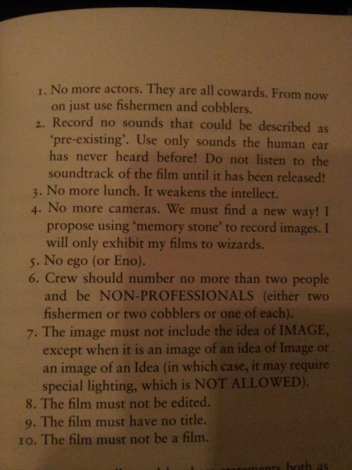 A New Manifesto For Film